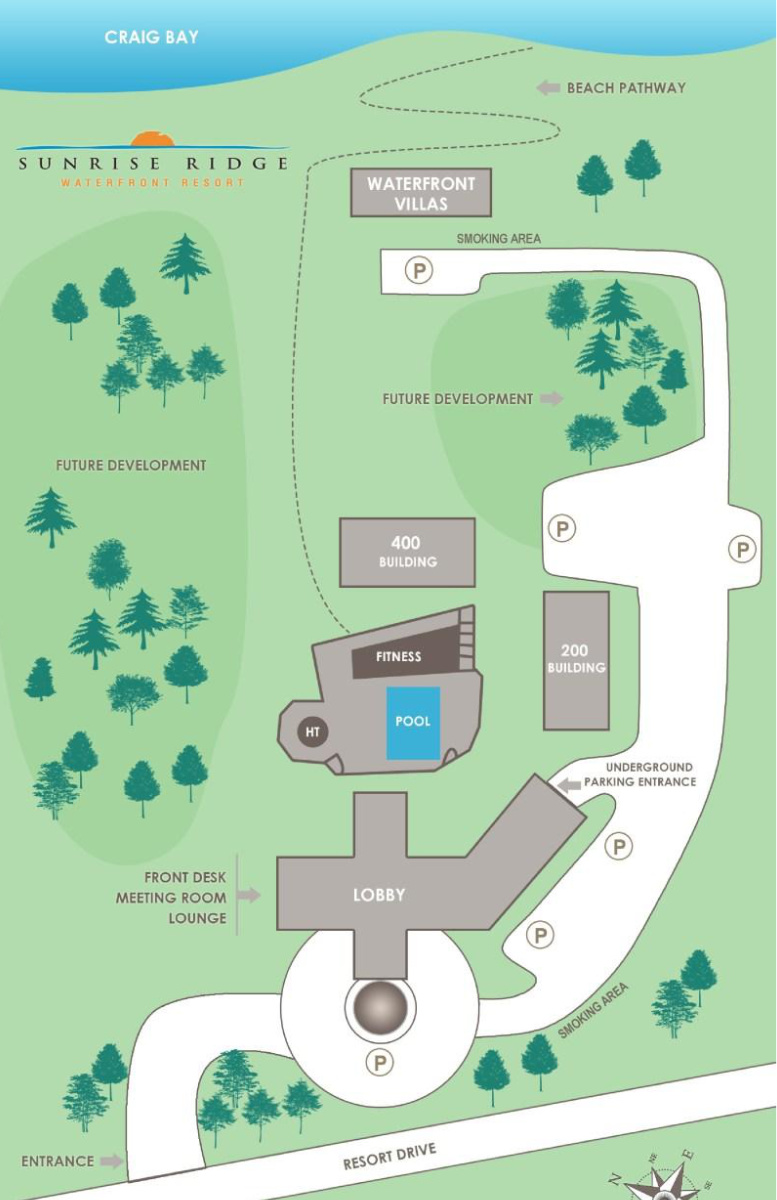 Sunrise Ridge Resort Map